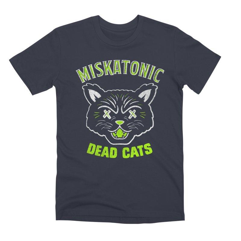 MISKATONIC DEAD CATS Men's Premium T-Shirt by Gimetzco's Damaged Goods