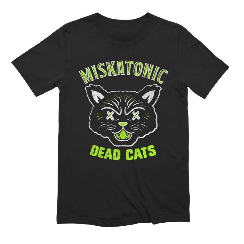 MISKATONIC DEAD CATS Men's Extra Soft T-Shirt by Gimetzco's Damaged Goods