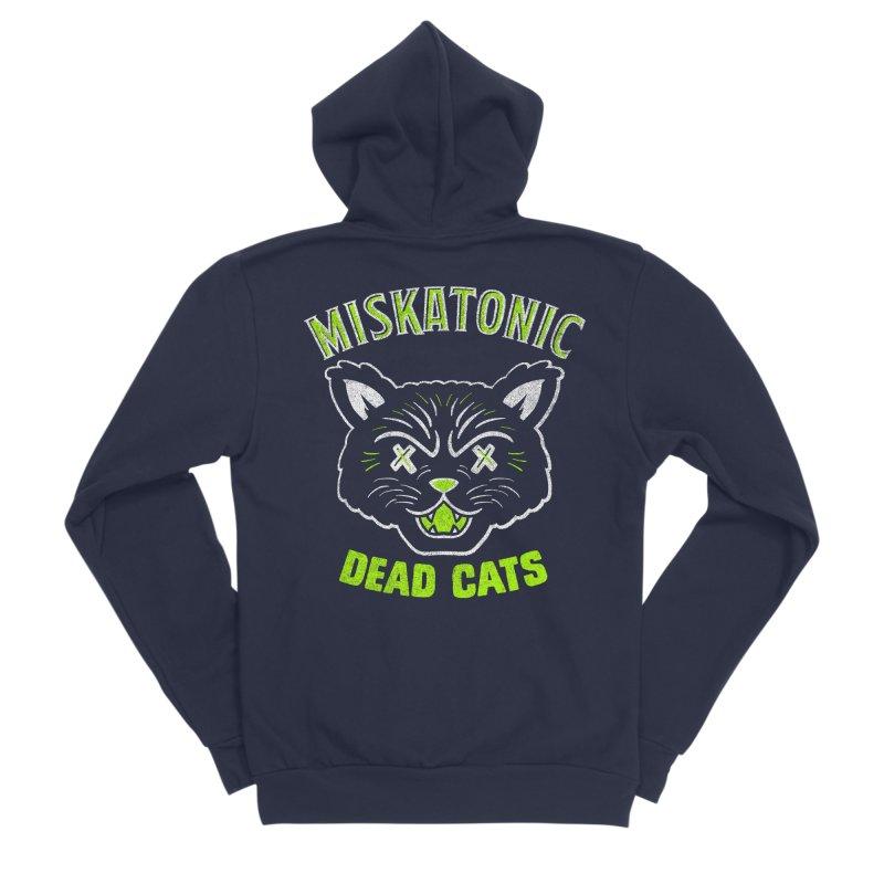 MISKATONIC DEAD CATS Men's Sponge Fleece Zip-Up Hoody by Gimetzco's Damaged Goods
