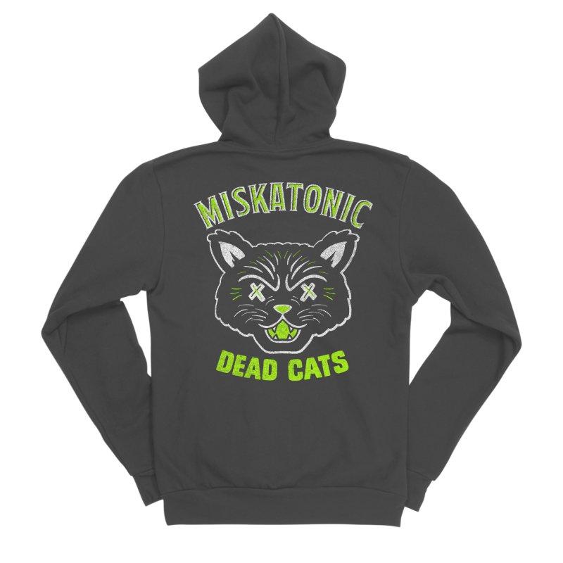 MISKATONIC DEAD CATS Women's Sponge Fleece Zip-Up Hoody by Gimetzco's Damaged Goods