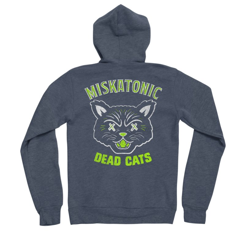 MISKATONIC DEAD CATS Women's Sponge Fleece Zip-Up Hoody by Gimetzco's Damaged Goods
