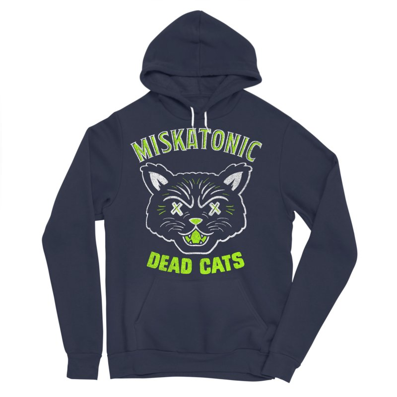 MISKATONIC DEAD CATS Men's Sponge Fleece Pullover Hoody by Gimetzco's Damaged Goods