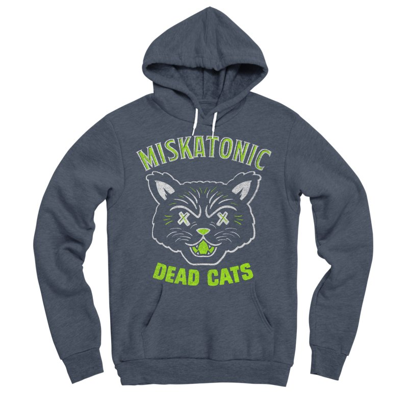 MISKATONIC DEAD CATS Men's Sponge Fleece Pullover Hoody by Gimetzco's Damaged Goods