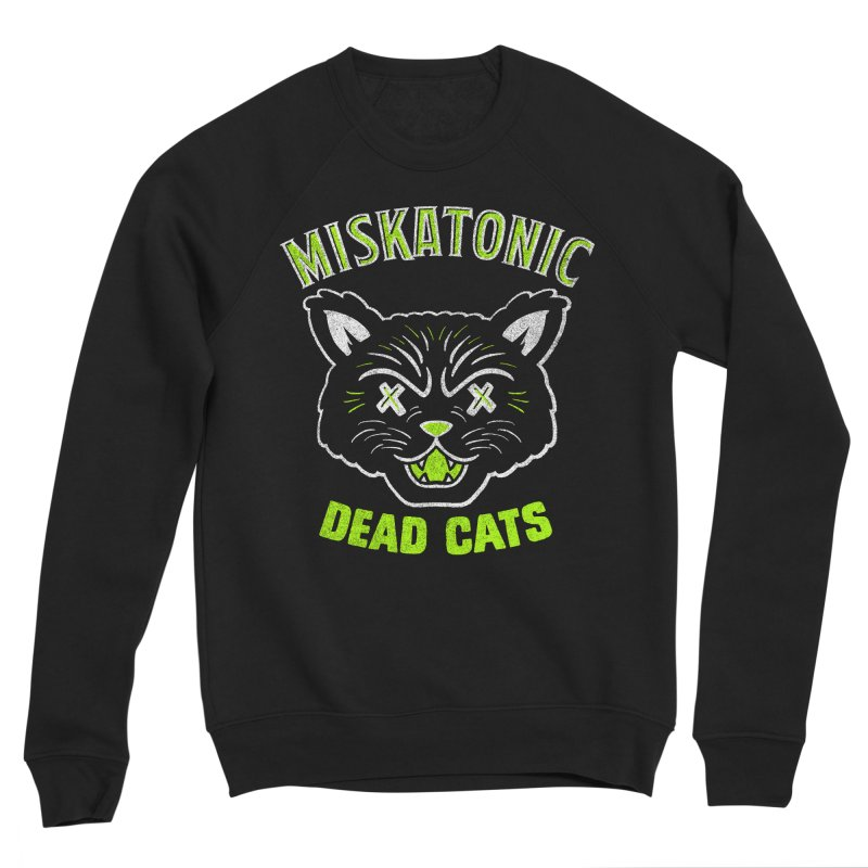 MISKATONIC DEAD CATS Men's Sponge Fleece Sweatshirt by Gimetzco's Damaged Goods