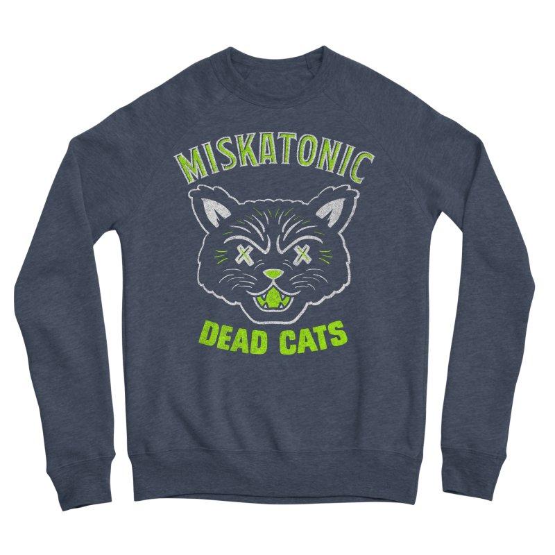 MISKATONIC DEAD CATS Women's Sponge Fleece Sweatshirt by Gimetzco's Damaged Goods