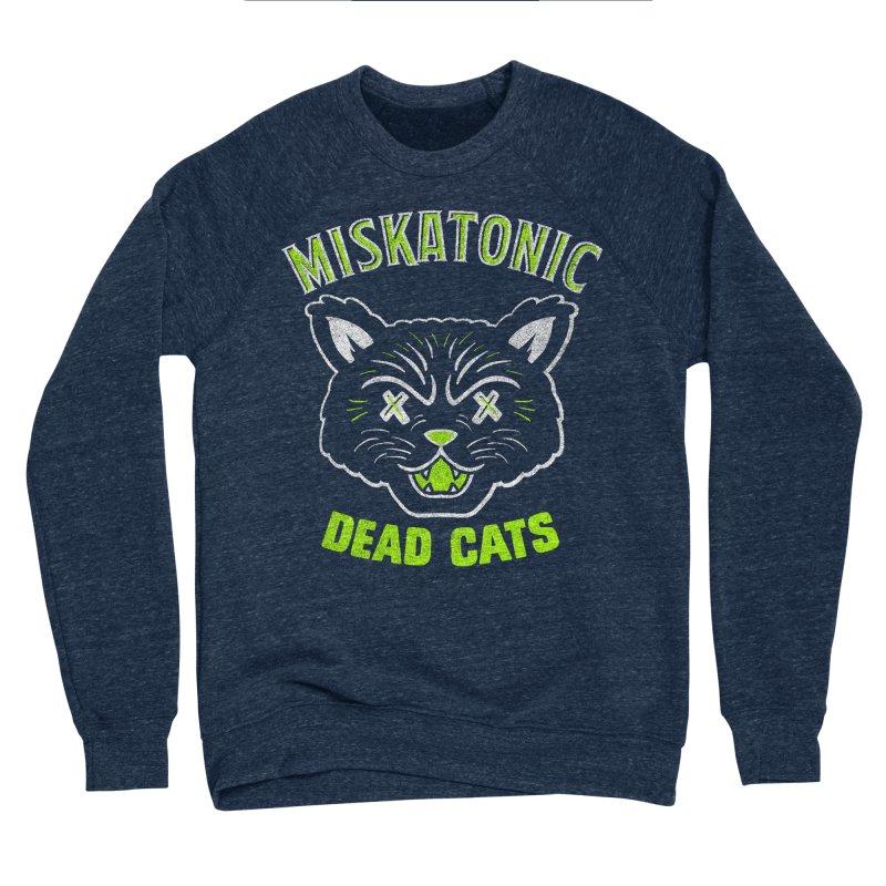 MISKATONIC DEAD CATS Men's Sponge Fleece Sweatshirt by Gimetzco's Damaged Goods