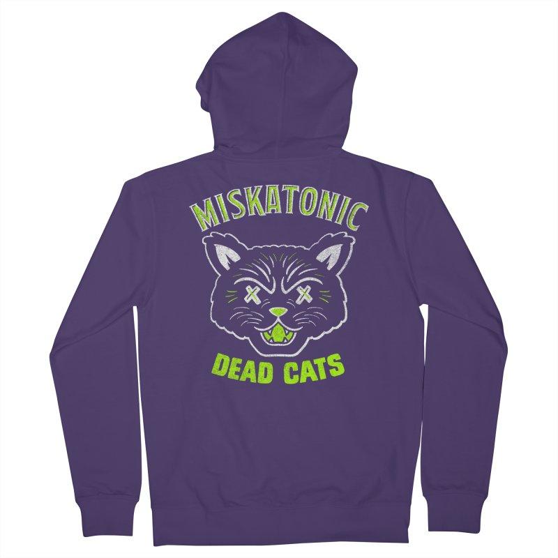 MISKATONIC DEAD CATS Women's Zip-Up Hoody by Gimetzco's Damaged Goods