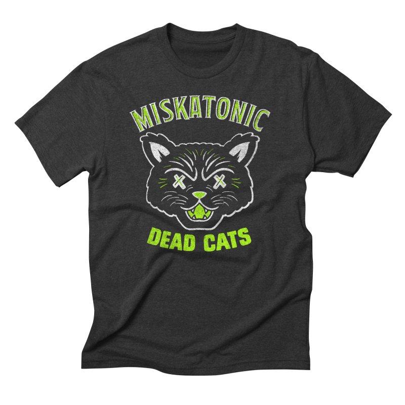 MISKATONIC DEAD CATS Men's T-Shirt by Gimetzco's Damaged Goods