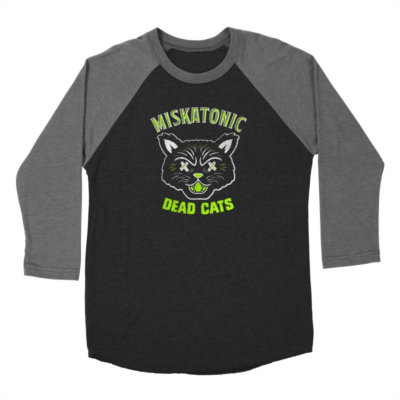 MISKATONIC DEAD CATS Women's Baseball Triblend Longsleeve T-Shirt by Gimetzco's Damaged Goods