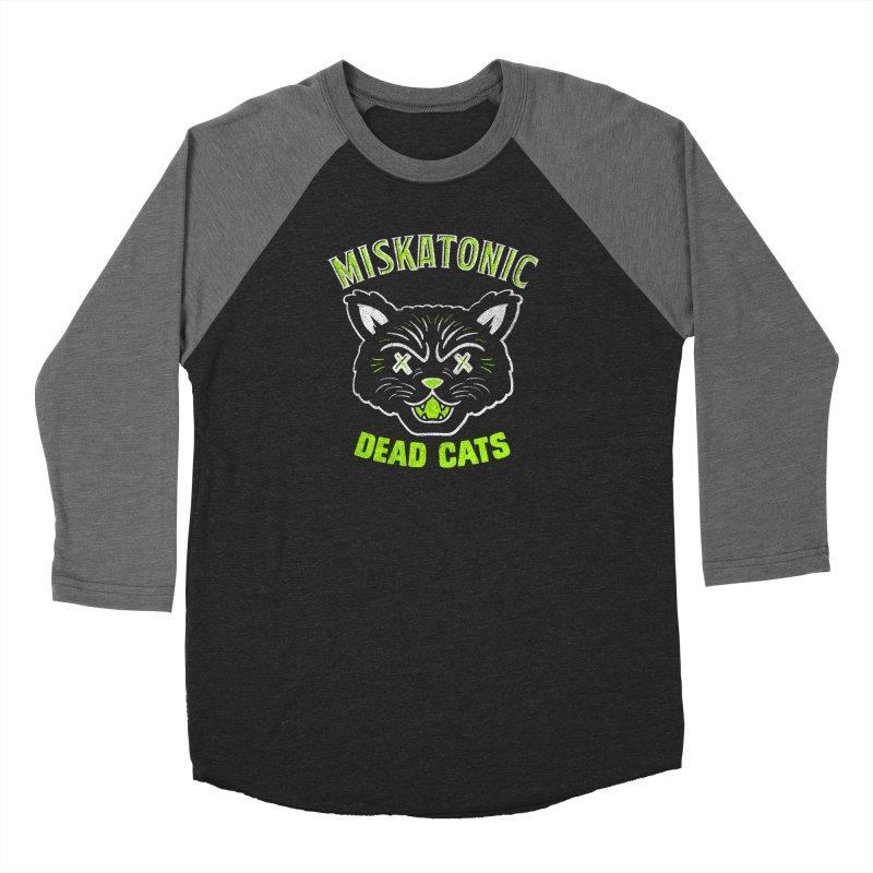 MISKATONIC DEAD CATS Men's Baseball Triblend Longsleeve T-Shirt by Gimetzco's Damaged Goods