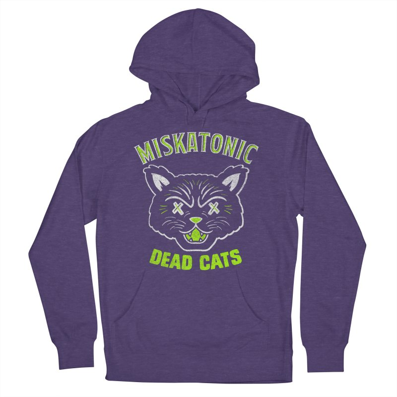 MISKATONIC DEAD CATS Women's French Terry Pullover Hoody by Gimetzco's Damaged Goods