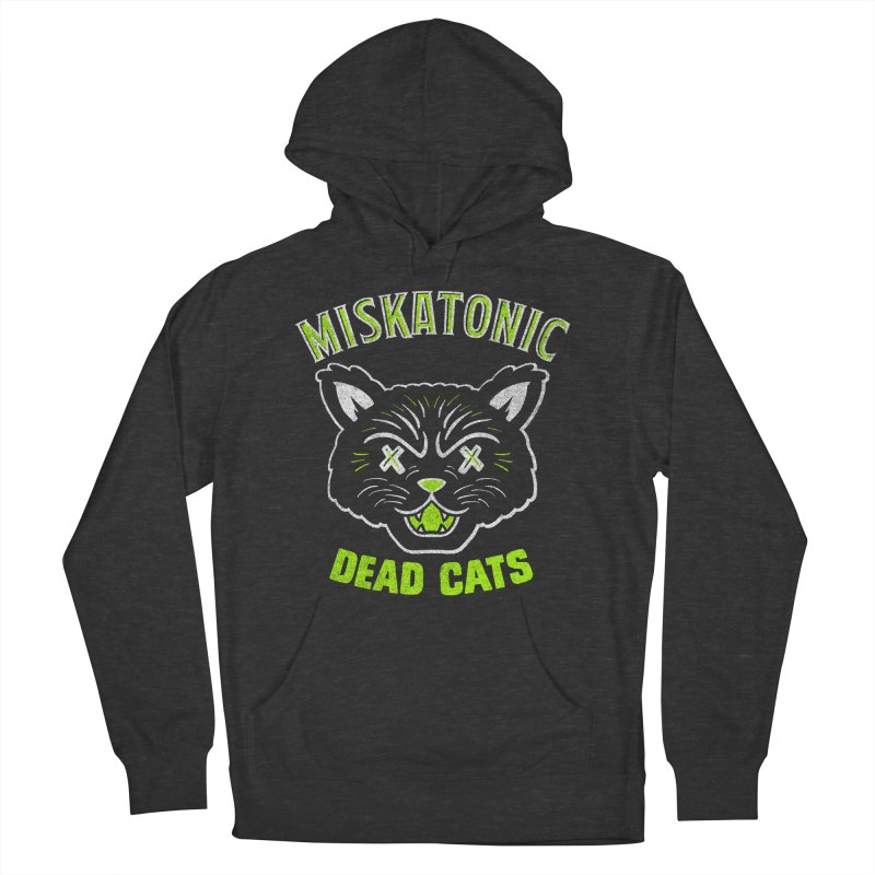 MISKATONIC DEAD CATS Men's French Terry Pullover Hoody by Gimetzco's Damaged Goods