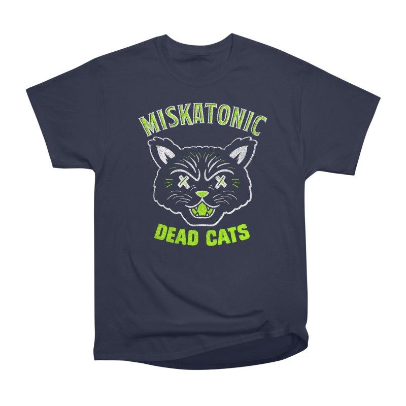 MISKATONIC DEAD CATS Women's Heavyweight Unisex T-Shirt by Gimetzco's Damaged Goods