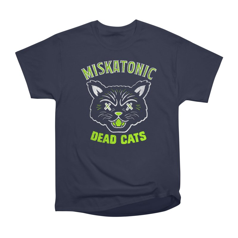 MISKATONIC DEAD CATS Men's Heavyweight T-Shirt by Gimetzco's Damaged Goods