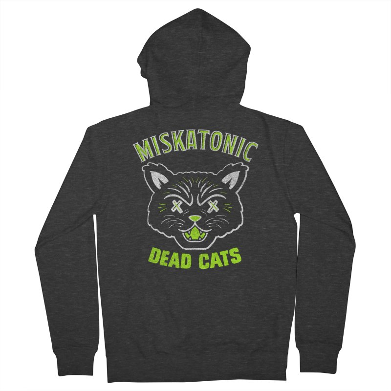 MISKATONIC DEAD CATS Women's French Terry Zip-Up Hoody by Gimetzco's Damaged Goods