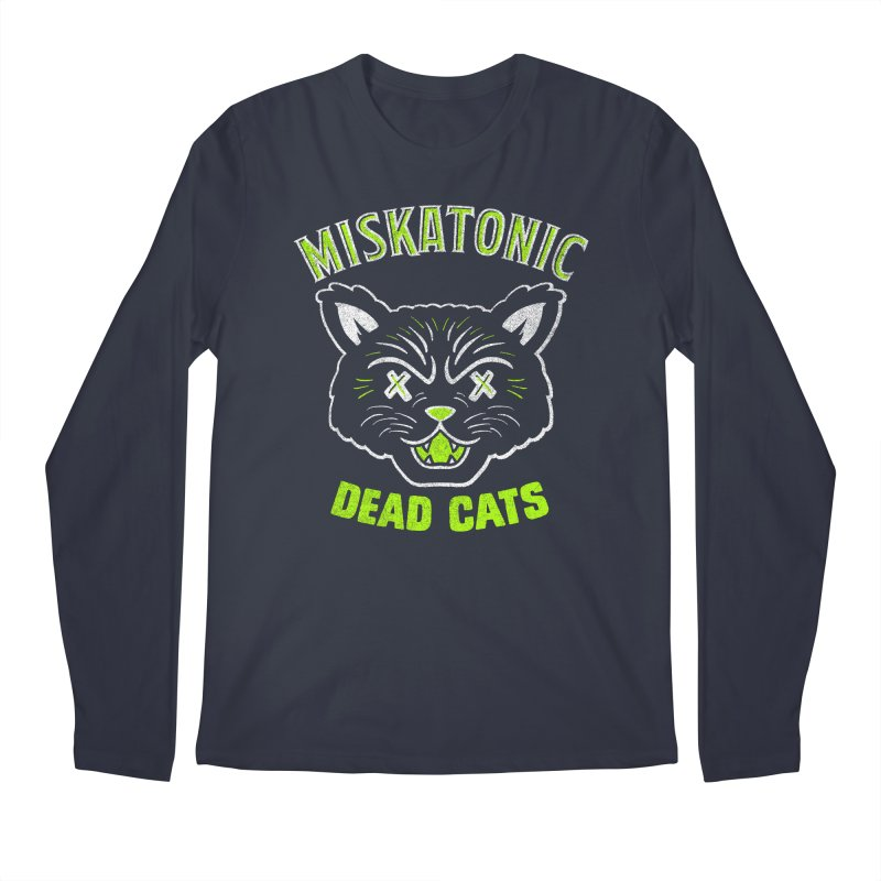 MISKATONIC DEAD CATS Men's Regular Longsleeve T-Shirt by Gimetzco's Damaged Goods