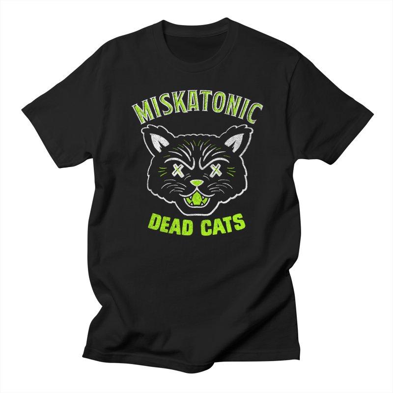MISKATONIC DEAD CATS Men's Regular T-Shirt by Gimetzco's Damaged Goods