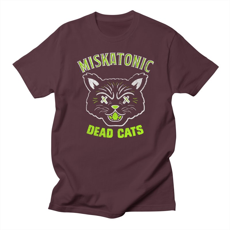 MISKATONIC DEAD CATS Men's Regular T-Shirt by Gimetzco's Damaged Goods
