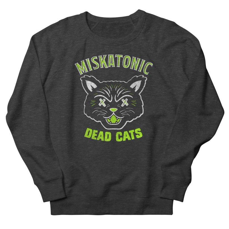 MISKATONIC DEAD CATS Women's French Terry Sweatshirt by Gimetzco's Damaged Goods