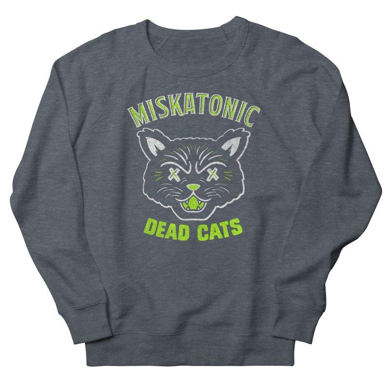 MISKATONIC DEAD CATS Men's French Terry Sweatshirt by Gimetzco's Damaged Goods