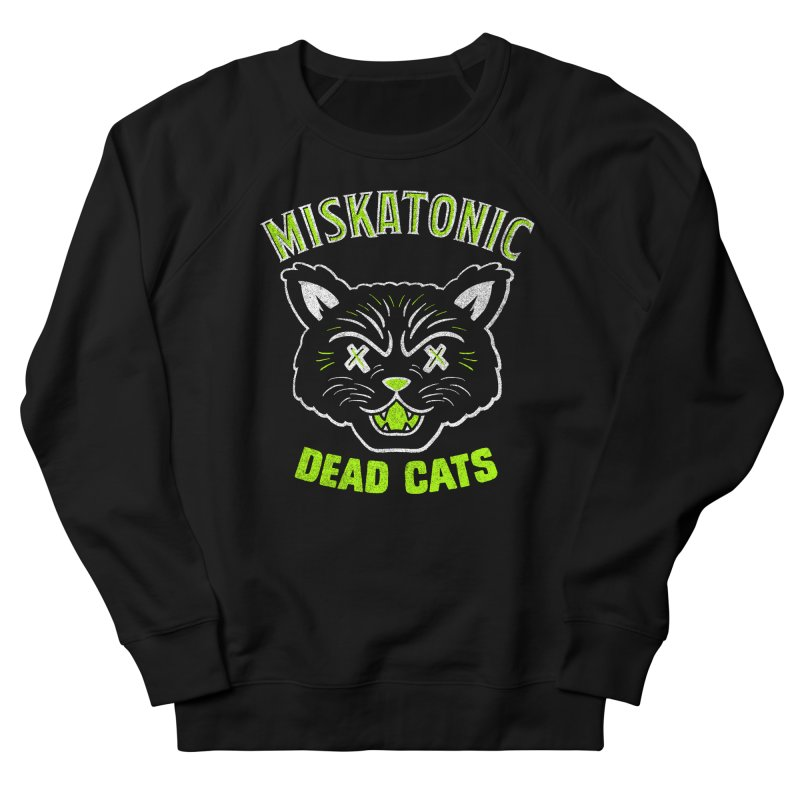 MISKATONIC DEAD CATS Men's French Terry Sweatshirt by Gimetzco's Damaged Goods