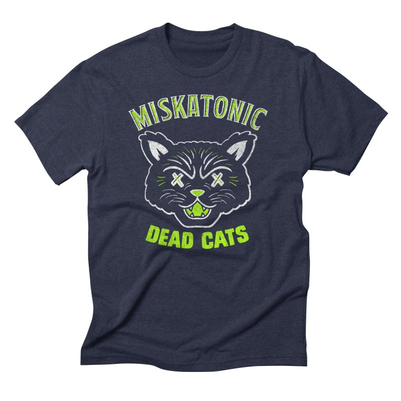 MISKATONIC DEAD CATS Men's Triblend T-Shirt by Gimetzco's Damaged Goods