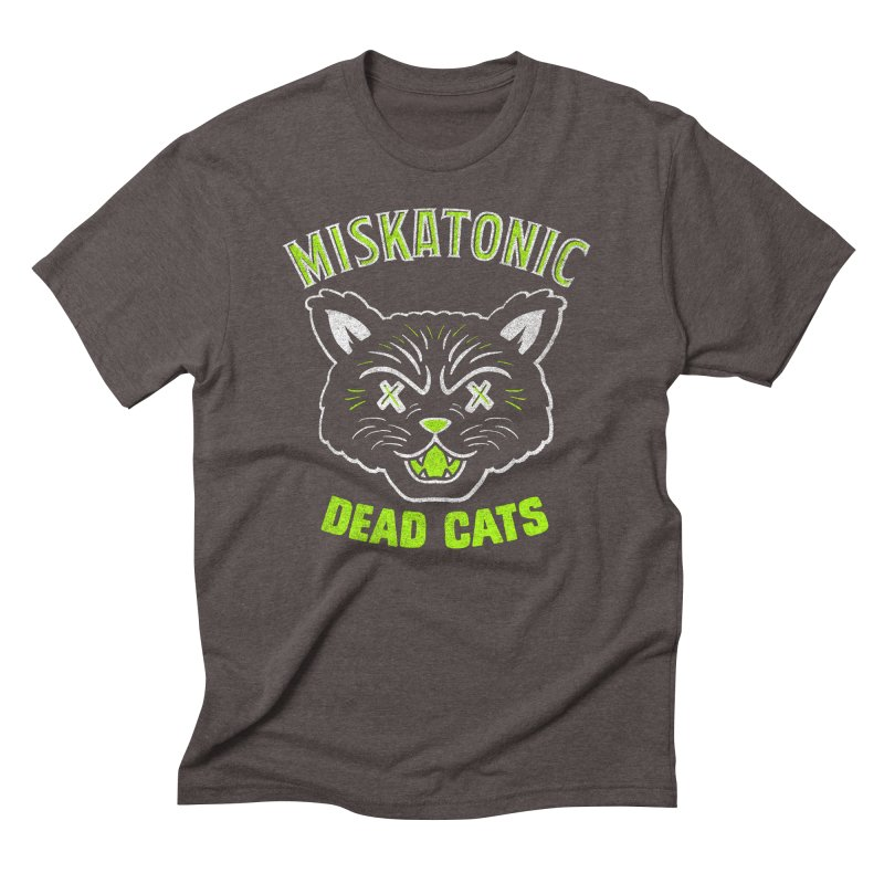 MISKATONIC DEAD CATS Men's Triblend T-Shirt by Gimetzco's Damaged Goods