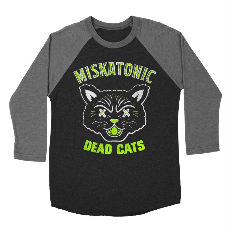 MISKATONIC DEAD CATS Men's Baseball Triblend Longsleeve T-Shirt by Gimetzco's Damaged Goods
