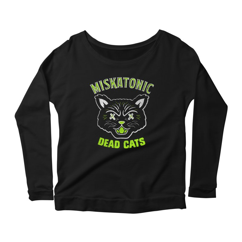 MISKATONIC DEAD CATS Women's Scoop Neck Longsleeve T-Shirt by Gimetzco's Damaged Goods