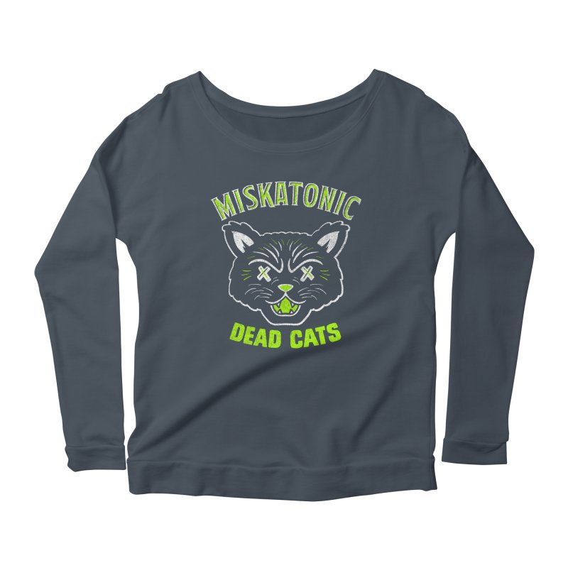 MISKATONIC DEAD CATS Women's Scoop Neck Longsleeve T-Shirt by Gimetzco's Damaged Goods