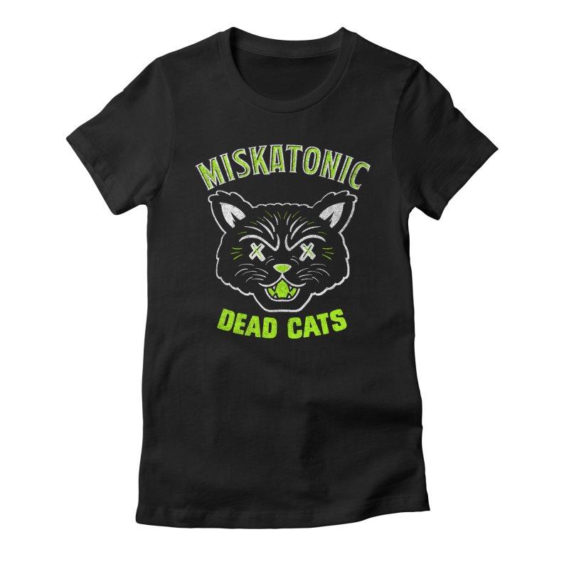 MISKATONIC DEAD CATS Women's Fitted T-Shirt by Gimetzco's Damaged Goods