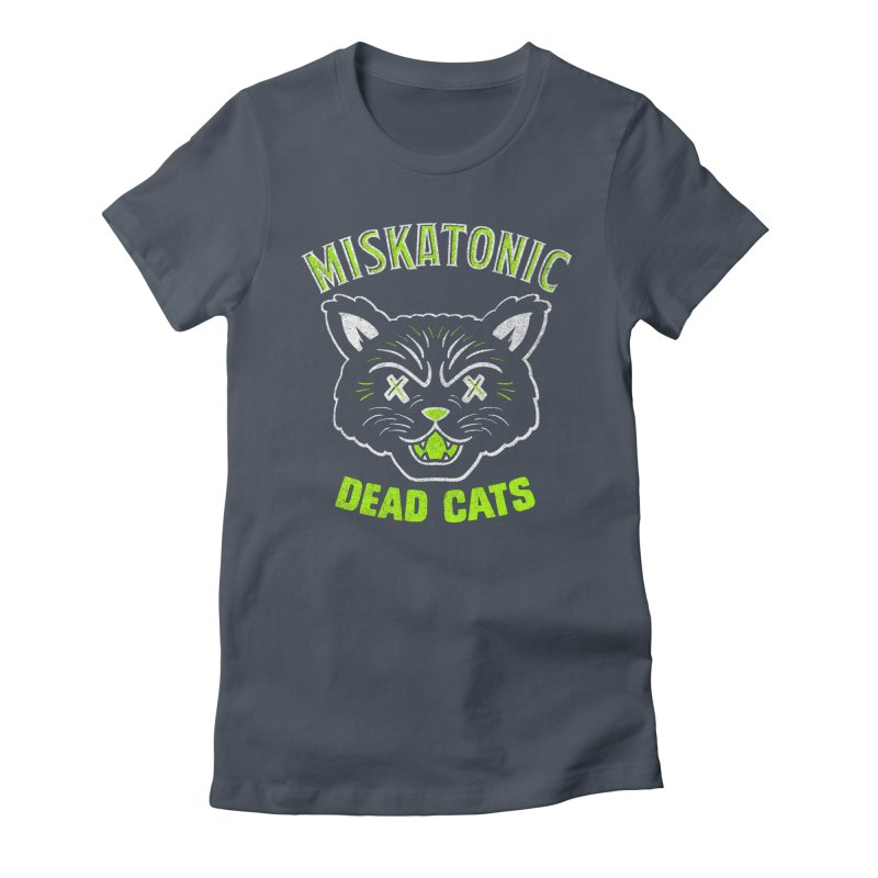 MISKATONIC DEAD CATS Women's Fitted T-Shirt by Gimetzco's Damaged Goods