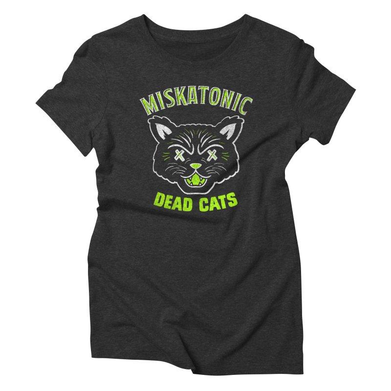 MISKATONIC DEAD CATS Women's Triblend T-Shirt by Gimetzco's Damaged Goods