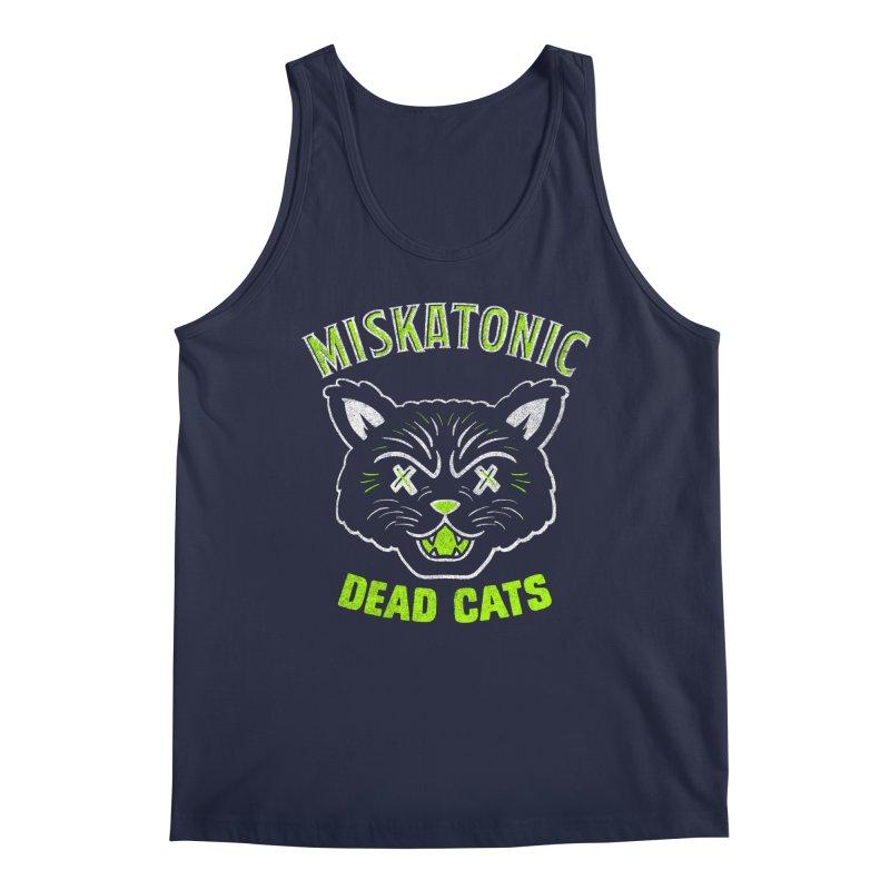 MISKATONIC DEAD CATS Men's Tank by Gimetzco's Damaged Goods