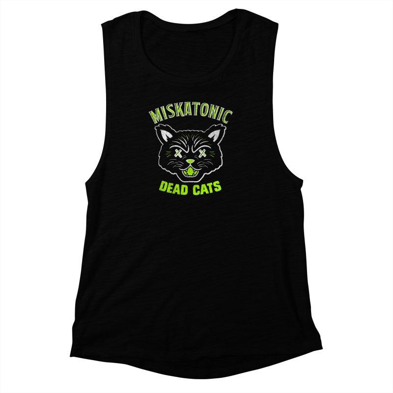 MISKATONIC DEAD CATS Women's Muscle Tank by Gimetzco's Damaged Goods