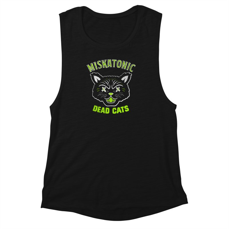 MISKATONIC DEAD CATS Women's Muscle Tank by Gimetzco's Damaged Goods