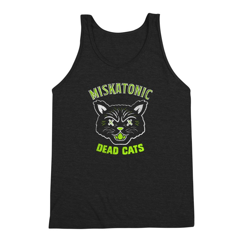MISKATONIC DEAD CATS Men's Triblend Tank by Gimetzco's Damaged Goods