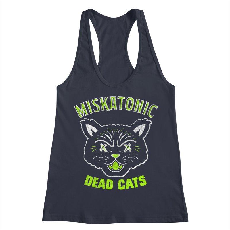 MISKATONIC DEAD CATS Women's Racerback Tank by Gimetzco's Damaged Goods
