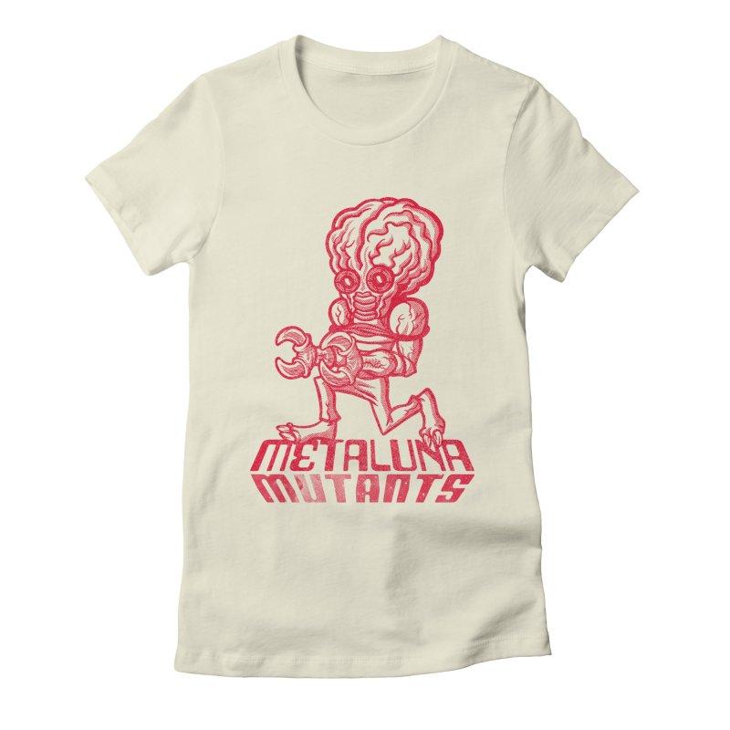 Metaluna Mutants Women's Fitted T-Shirt by Gimetzco's Damaged Goods