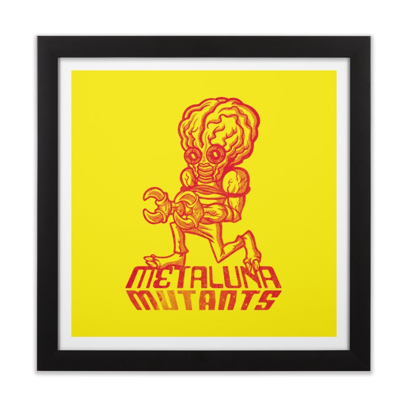 Metaluna Mutants Home Framed Fine Art Print by Gimetzco's Damaged Goods