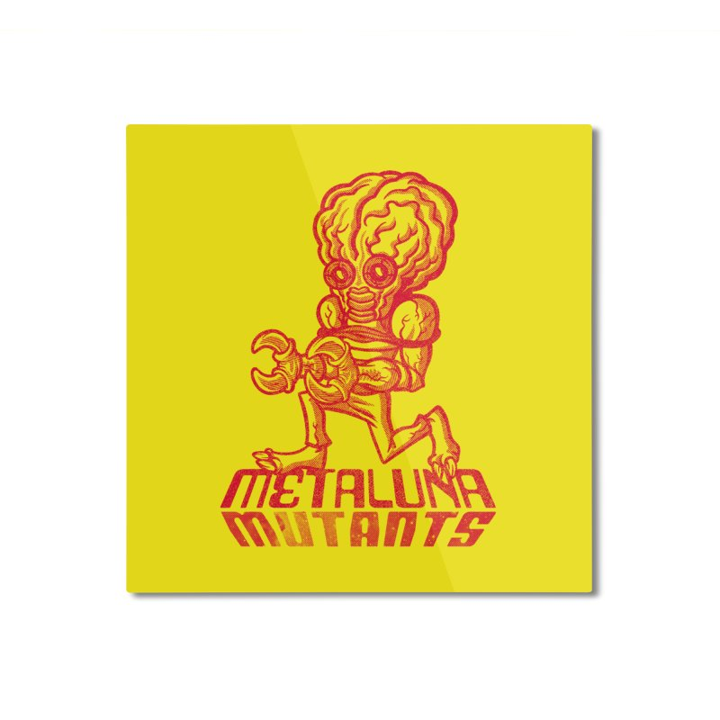 Metaluna Mutants Home Mounted Aluminum Print by Gimetzco's Damaged Goods