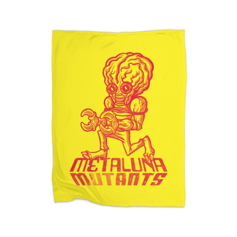 Metaluna Mutants Home Fleece Blanket Blanket by Gimetzco's Damaged Goods
