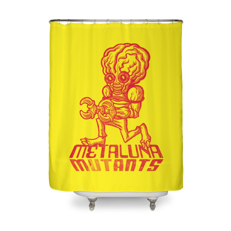 Metaluna Mutants Home Shower Curtain by Gimetzco's Damaged Goods