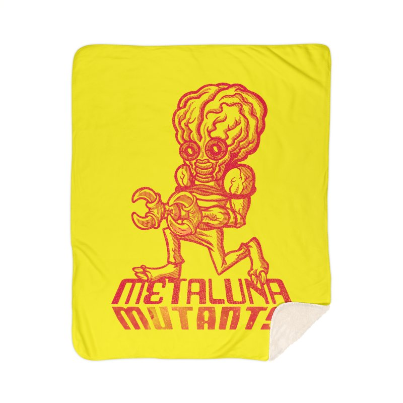 Metaluna Mutants Home Sherpa Blanket Blanket by Gimetzco's Damaged Goods