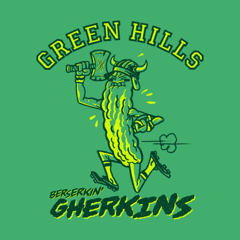 Berserkin' Gherkins Men's V-Neck by Gimetzco's Damaged Goods