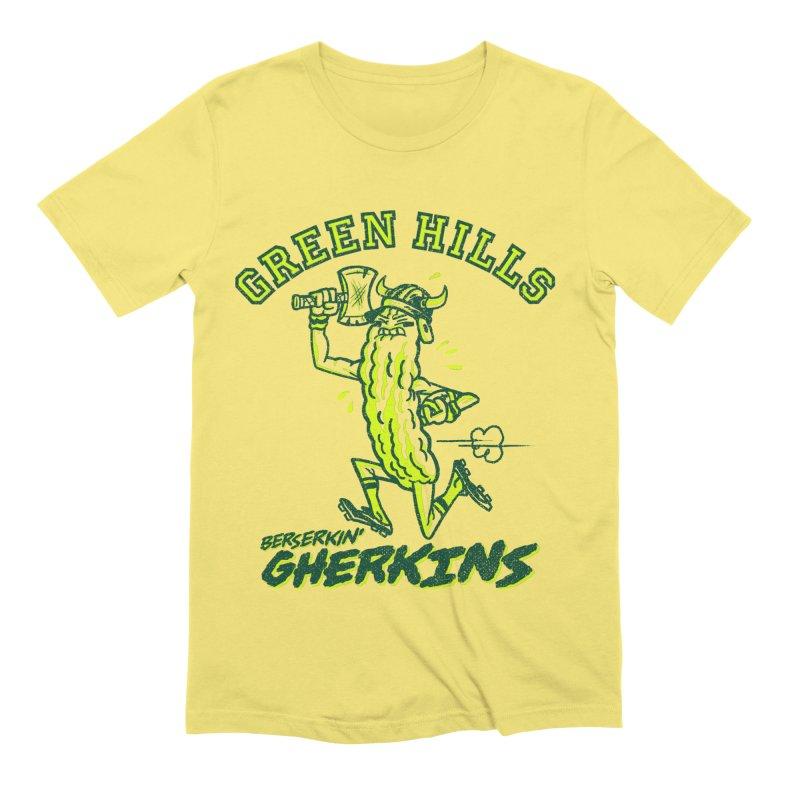 Berserkin' Gherkins Men's Extra Soft T-Shirt by Gimetzco's Damaged Goods