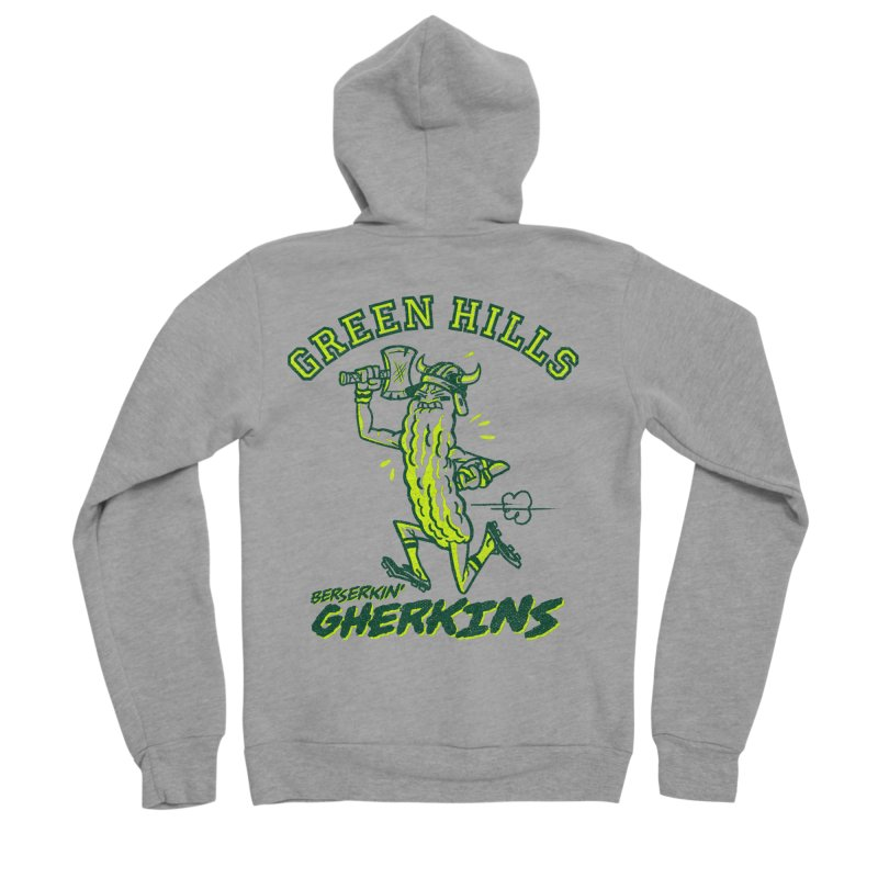 Berserkin' Gherkins Women's Sponge Fleece Zip-Up Hoody by Gimetzco's Damaged Goods