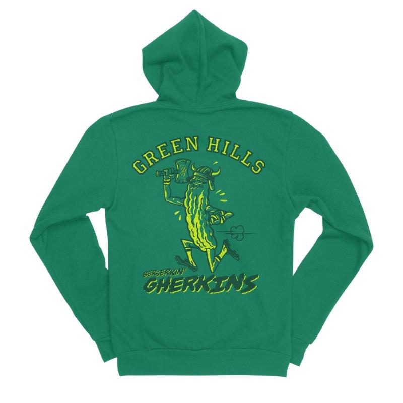 Berserkin' Gherkins Men's Sponge Fleece Zip-Up Hoody by Gimetzco's Damaged Goods