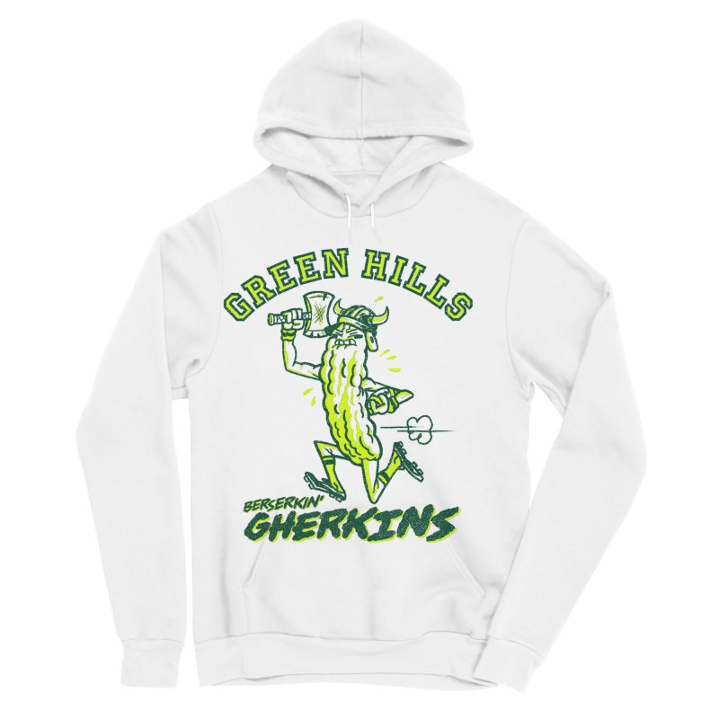 Berserkin' Gherkins Men's Sponge Fleece Pullover Hoody by Gimetzco's Damaged Goods
