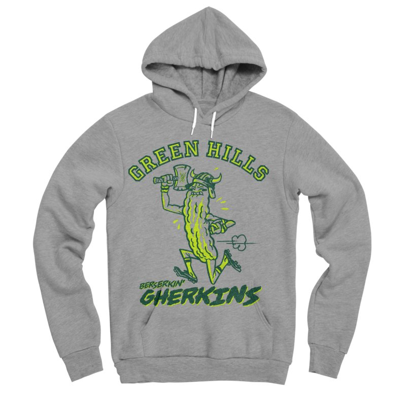Berserkin' Gherkins Men's Sponge Fleece Pullover Hoody by Gimetzco's Damaged Goods